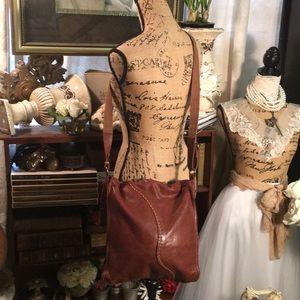 Lucky Brand leather crossbody/satchel